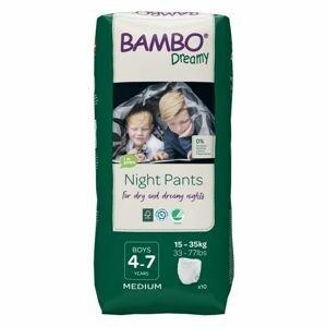 Bambo Dreamy Night Pants Boys 4-7 let 15-35 kg noční plenkové kalhotky 10 ks