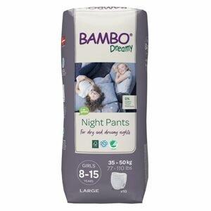 Bambo Dreamy Night Pants Girls 8-15 let 35-50 kg noční plenkové kalhotky 10 ks