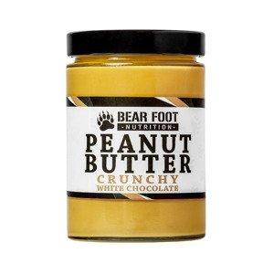 BEAR FOOT NUTRITION Crunchy Arašídový krém s bílou čokoládou 550 g