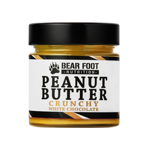 BEAR FOOT NUTRITION Crunchy Arašídový krém s bílou čokoládou 250 g