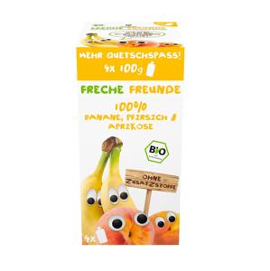 Freche Freunde BIO Ovocná kapsička banán broskev meruňka 4x100 g