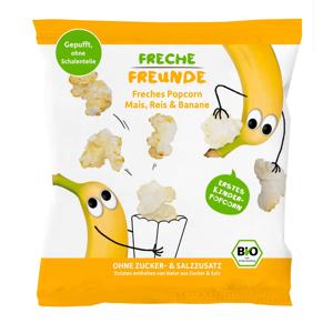 Freche Freunde BIO Popcorn kukuřice rýže a banán 20 g