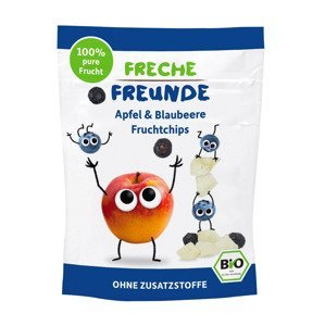 Freche Freunde BIO Ovocné chipsy jablko a borůvka 16 g