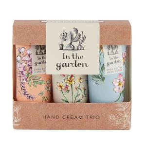 Heathcote & Ivory Sada krémů na ruce a nehty s bambuckým máslem In the garden 3x30 ml