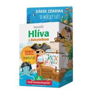 Imunit Jack Hlívák Hlíva s rakytníkem pro děti 60 tablet + 3D mořský svět