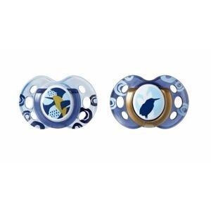 Tommee Tippee Šidítko C2N silikon Moda 18-36m 2 ks modré