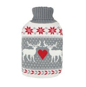 Depan Termofor gumový s pleteným obalem 2 l vánoční sob