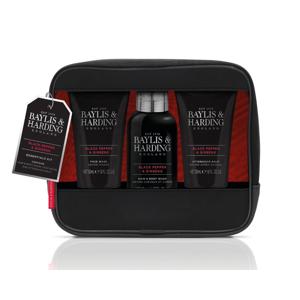 Baylis & Harding Pánská sada péče o tělo v kosmetické tašce Black Pepper & Ginseng 3 ks