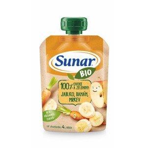 Sunar BIO Jablko, banán, mrkev kapsička 100 g