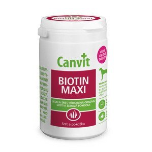 Canvit Biotin Maxi pro psy ochucený 76 tablet