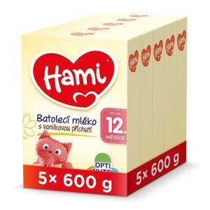 Hami 12m+ Vanilka 5x600 g