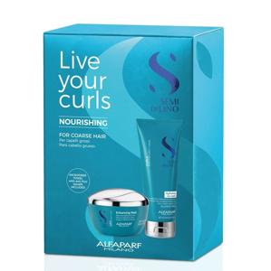 Alfaparf Milano Live Your Curls Nourishing vyživující set pro vlnité a kudrnaté silné vlasy