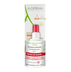 A-Derma Exomega Control krém 200 ml + Cutalgan sprej 100 ml