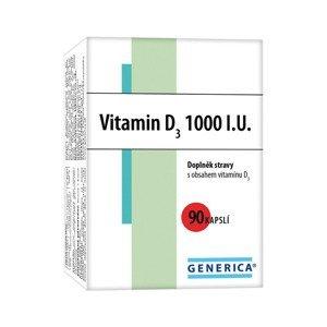 Generica Vitamin D3 1000 I.U. 90 kapslí