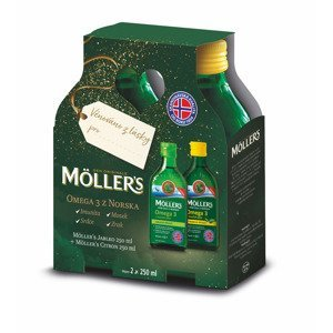 Mollers Omega 3 citron + jablko dárkové balení 2x250 ml