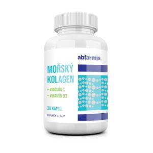 Abfarmis Mořský kolagen + vitamín C + vitamín B3 30 kapslí