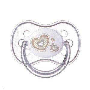 Canpol babies Newborn Baby Dudlík silikonový symetrický 0-6m 1 ks béžový