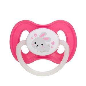 Canpol babies Bunny & Company Dudlík kaučukový třešinka 0-6m 1 ks růžový