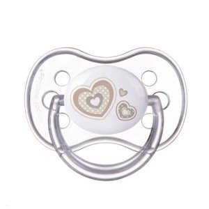 Canpol babies Newborn Baby Dudlík silikonový symetrický 6-18m 1 ks béžový