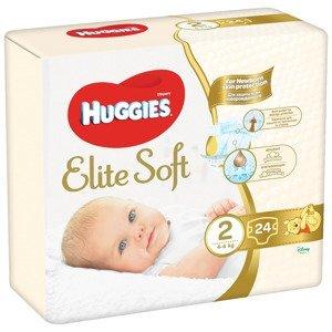 Huggies Elite Soft 2 4-6 kg dětské pleny 24 ks