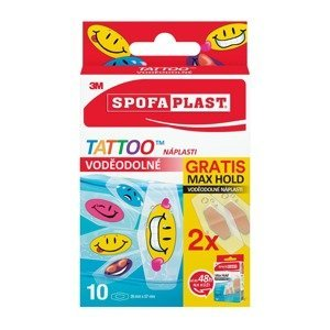 3M Spofaplast Voděodolné Tattoo dětské náplasti + 2 x Max Hold voděodolné 10 ks