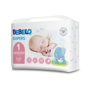 BEBELO Care Diapers Newborn 1 dětské pleny 28 ks