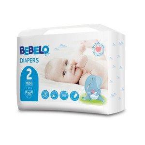 BEBELO Care Diapers Mini 2 dětské pleny 36 ks