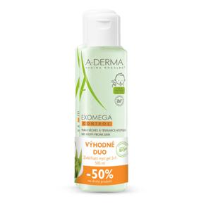 A-Derma Exomega Control Zvláčňující mycí gel 2v1 2x500 ml DUO