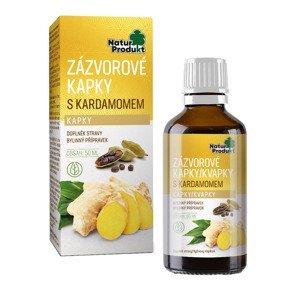 Naturprodukt Zázvorové kapky s kardamomem 50 ml