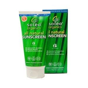Soléo organics all natural Sunscreen SPF30+ 150 g