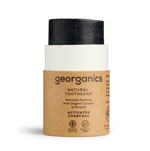 Georganics Mýdlo na zuby Aktivní uhlí 60 ml
