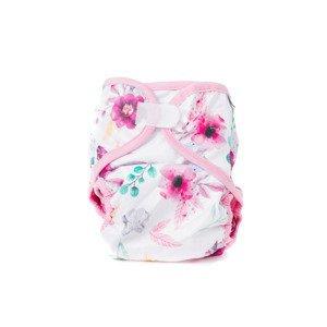Bobánek Svrchní kalhotky XL suchý zip 1 ks růžové květiny