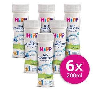 Hipp 1 BIO Combiotik Počáteční mléčná kojenecká výživa 6x200 ml