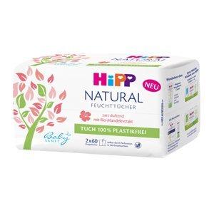 Hipp BabySanft Čisticí vlhčené ubrousky NATURAL SENSITIVE 2x60 ks