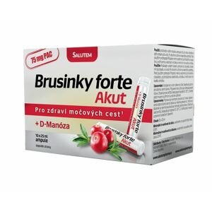 Brusinky Forte Akut 1500 mg + D-Manosa lesní plody 10 ampulí