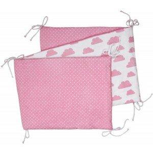 T-tomi Skládaný mantinel 1 ks white/pink clouds