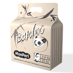 MonPeri Bamboo S 3-6 kg dětské plenky 25 ks