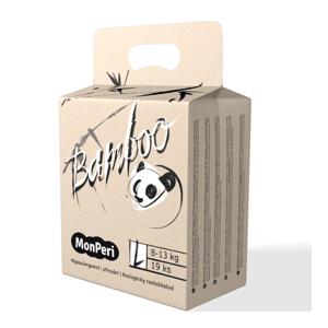 MonPeri Bamboo L 8-13 kg dětské plenky 19 ks