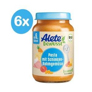 Alete BIO Příkrm zelenina + těstoviny + vepřová šunka 6m+ 6x190 g