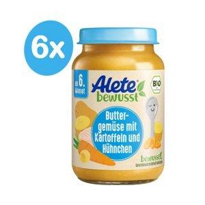 Alete BIO Příkrm mrkev s bramborem a kuřecím masem 6m+ 6x190 g