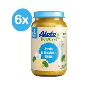 Alete BIO Příkrm těstoviny + brokolice + smetana 8m+ 6x220 g