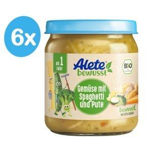 Alete BIO Příkrm zelenina se špagetami a krůtím masem 12m+ 6x250 g