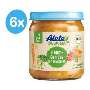Alete BIO Příkrm zelenina s makaróny a smetanou 12m+ 6x250 g