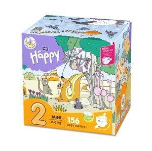 Bella Baby Happy Mini 3-6 kg dětské pleny box 2x78 ks