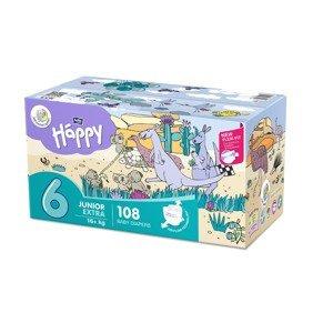 Bella Baby Happy Junior Extra od 16 kg dětské pleny box 2x54 ks