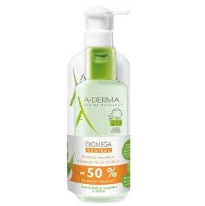 A-Derma Exomega Control Emolienční mléko 400 ml + Mycí gel 2v1 200 ml