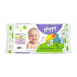 Bella Baby Happy Čisticí ubrousky hedvábí a bavlna 64 ks
