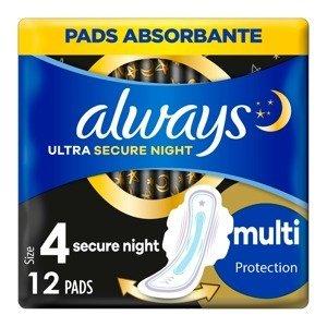 Always Ultra Extra Night Protection vložky 12 ks