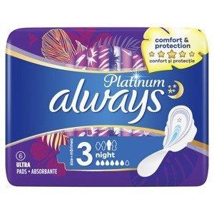 Always Ultra Platinum Night vložky 6 ks