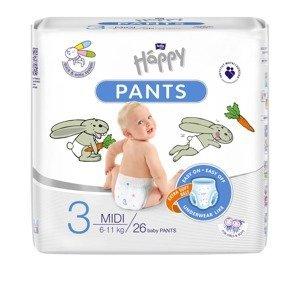 Bella Baby Happy Pants vel. 3 Midi plenkové kalhotky 26 ks